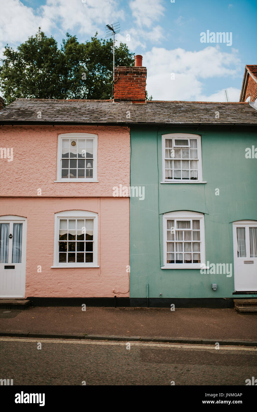 Typical english houses in Lavenham - Stock Image