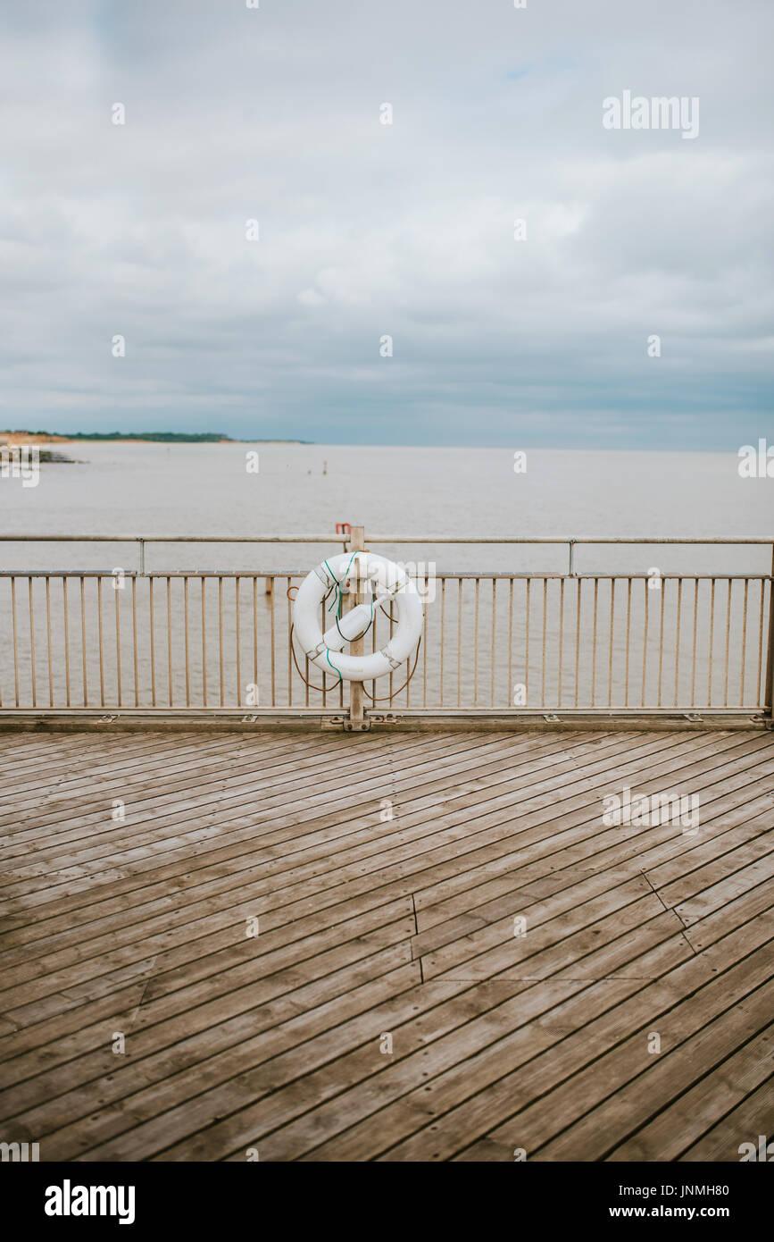 Southwold Pier detail. Rescue equipment. - Stock Image