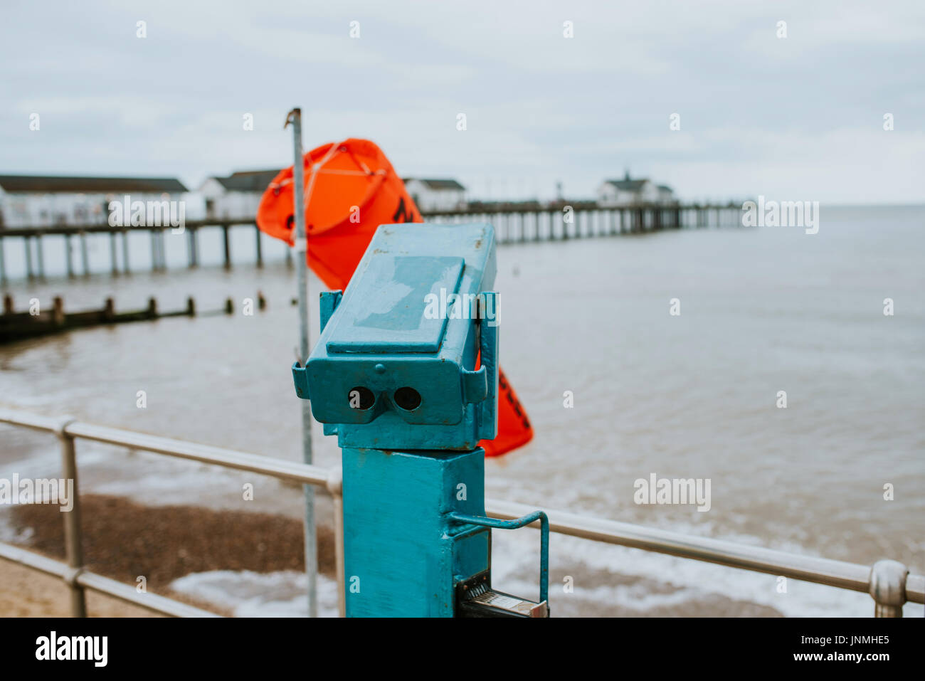Sightseeing Binocular close up - Stock Image