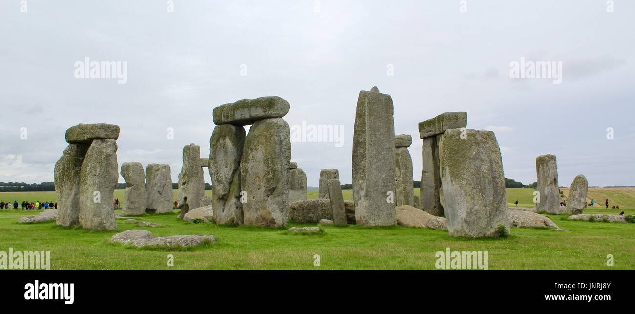 Stonehenge on a cloudy daycloudy - Stock Image
