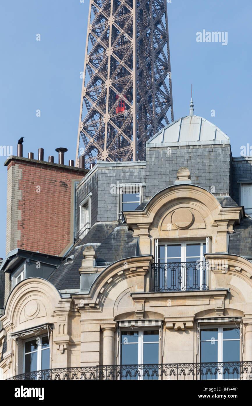 Paris eiffel tower apartment stock photos paris eiffel for Apartment in the eiffel tower
