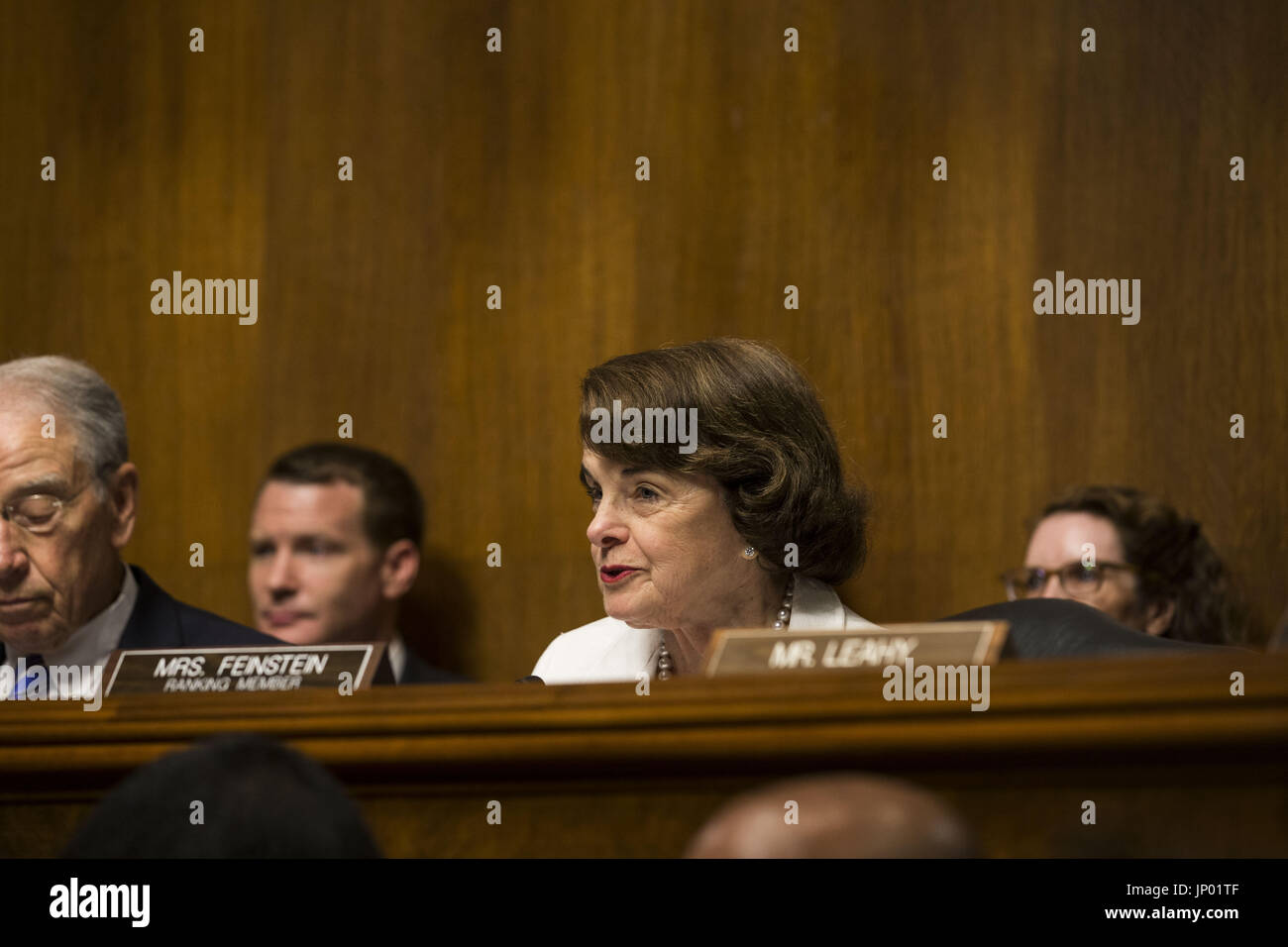 Washington, District of Columbia, USA. 12th July, 2017. Sen. DIANNE FEINSTEIN (D-CA) during Christopher Wray's - Stock Image