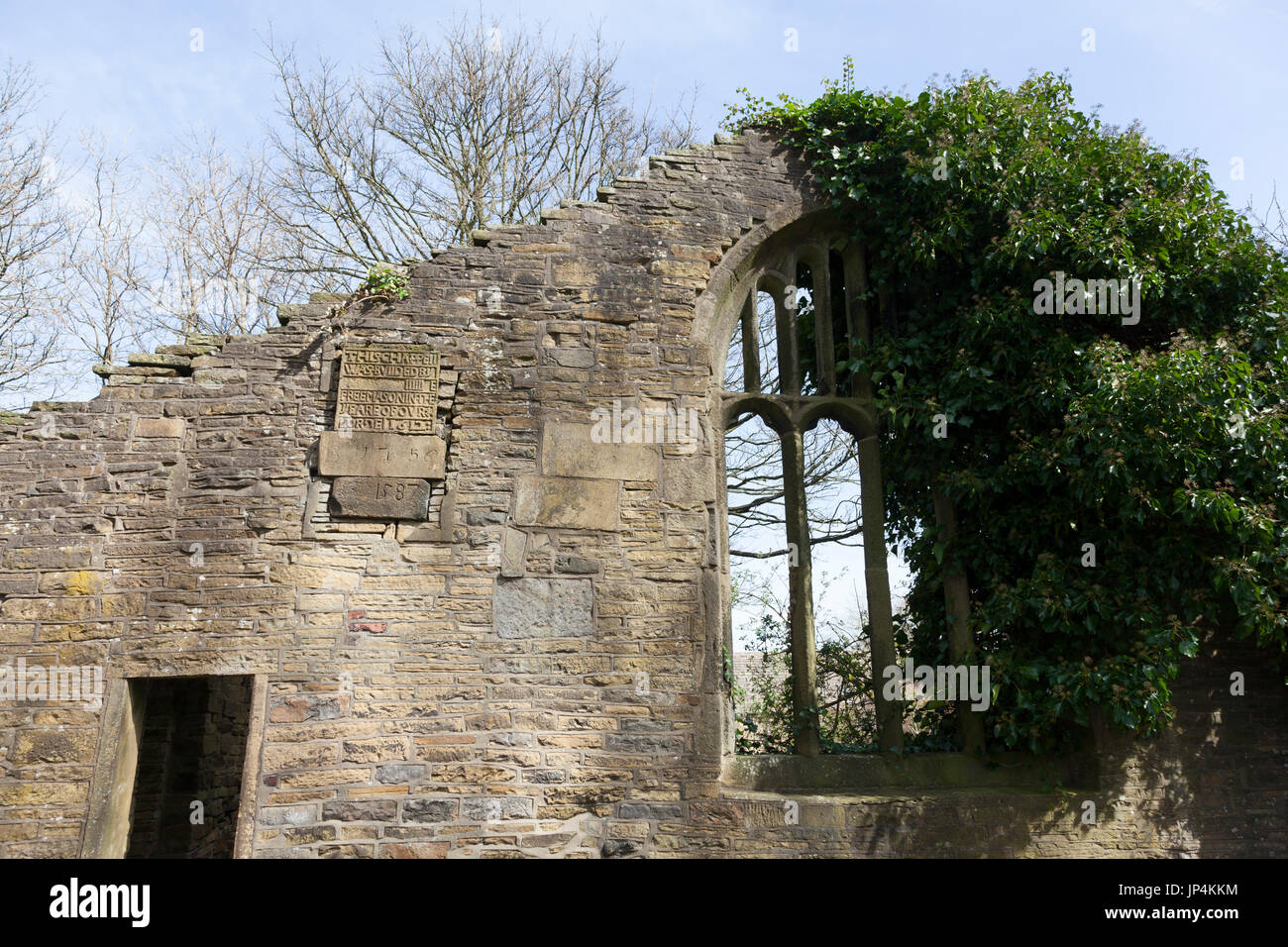 Remains of the Bell Chapel where Patrick Brontë preached, Thornton, West Yorkshire - Stock Image