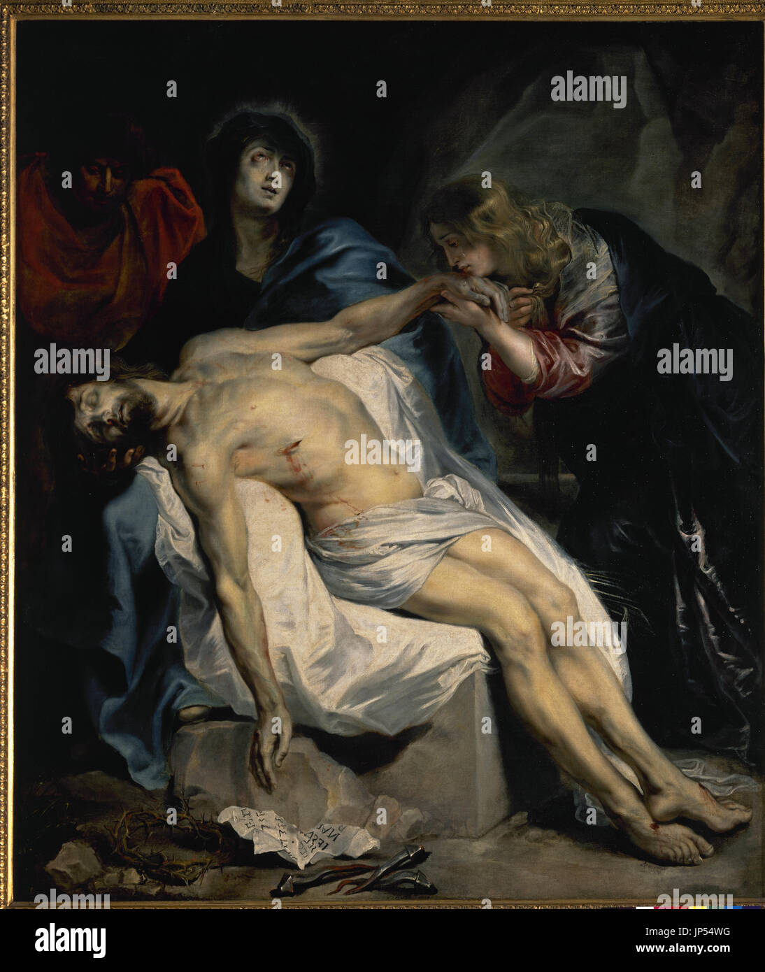 Anton van Dyckt (1599-1641). Flemish painter. The Pity, 1618-1620. Prado Museum. Madrid. Spain. - Stock Image
