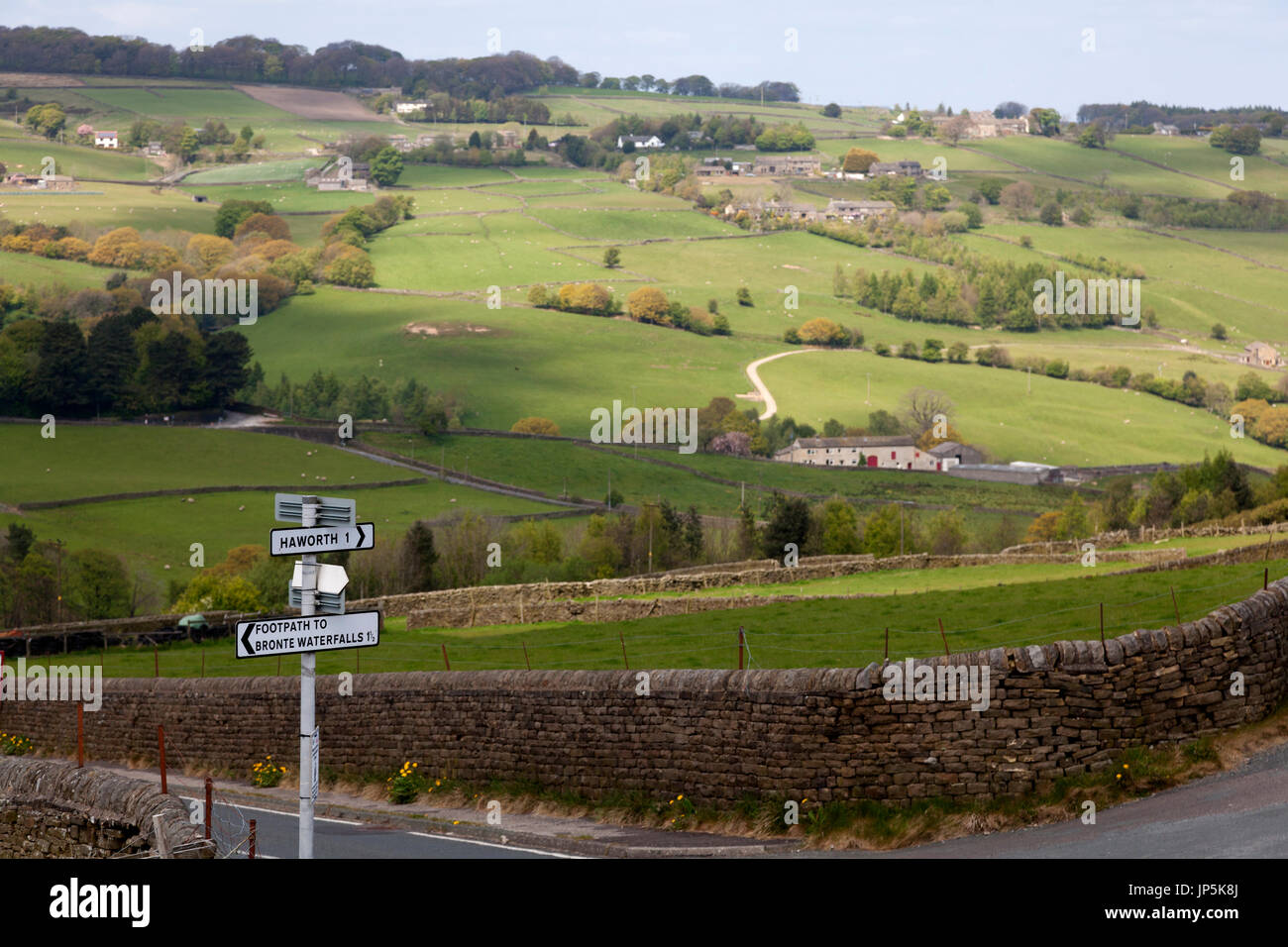 Scenery between Haworth and Stanbury, West Yorkshire - Stock Image