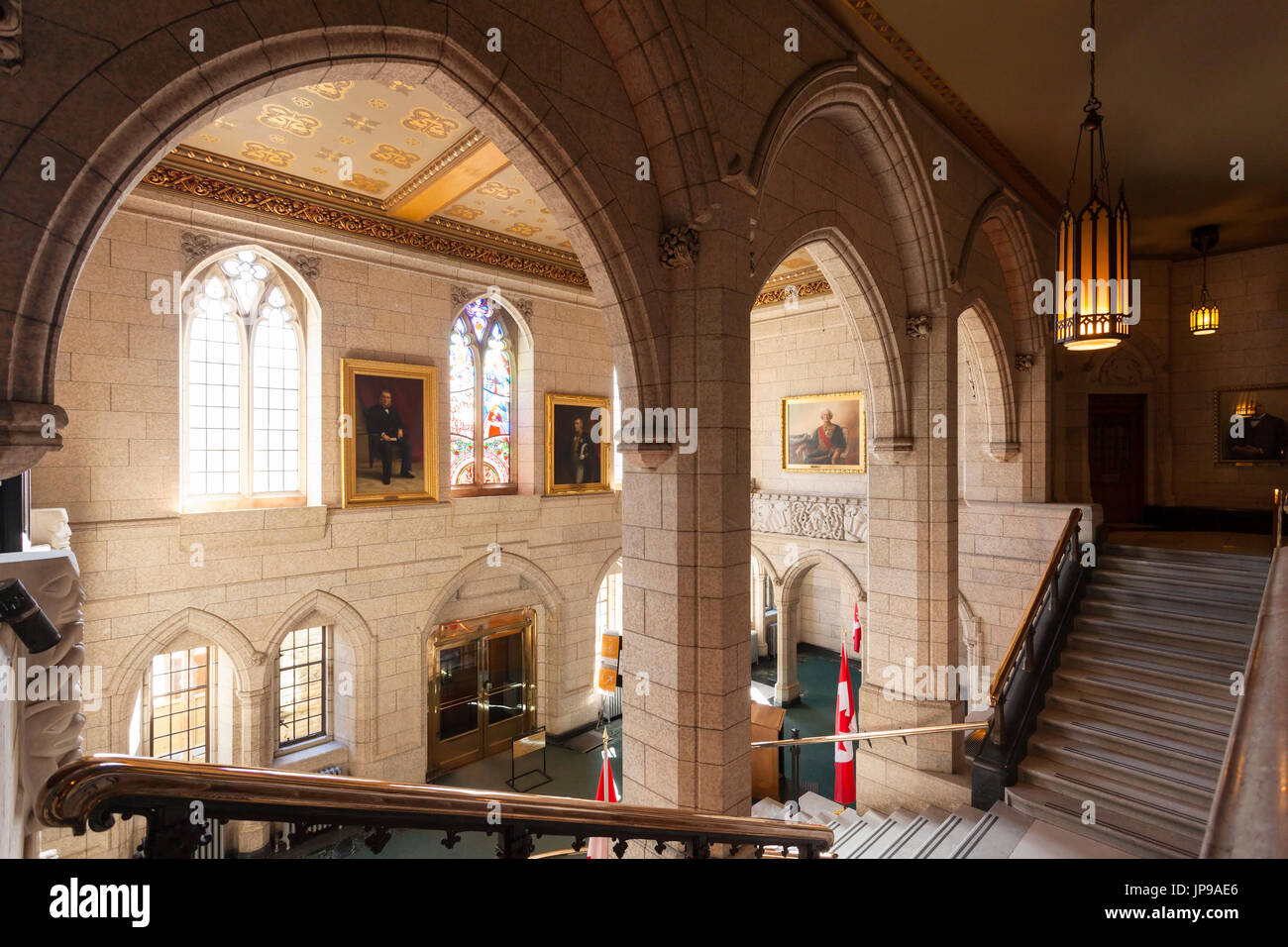 House Of Commons Foyer Canada : Staircase main stock photos images