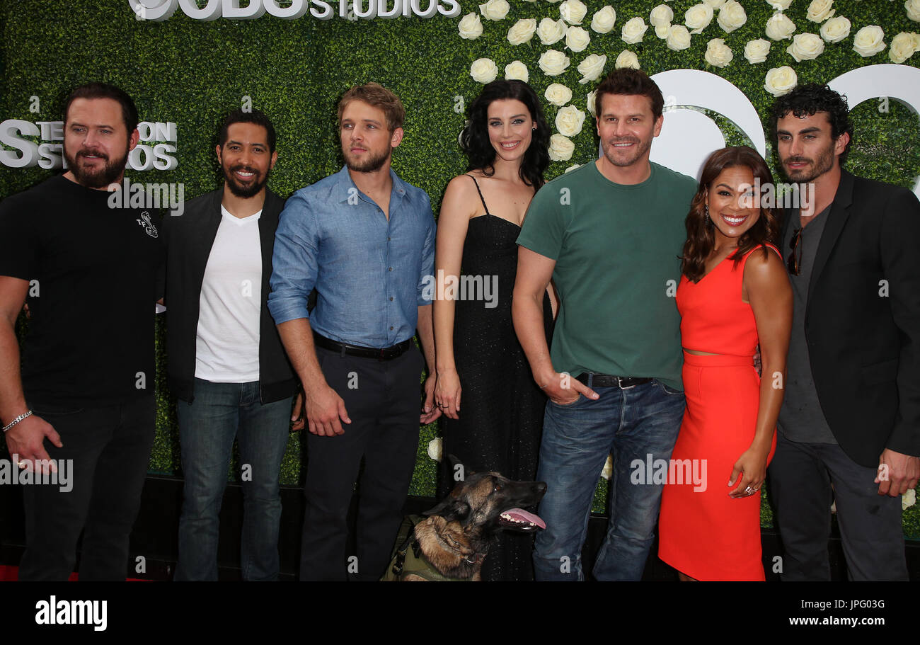 STUDIO CITY, CA - AUGUST 01: Seal Team Cast, At 2017 ...