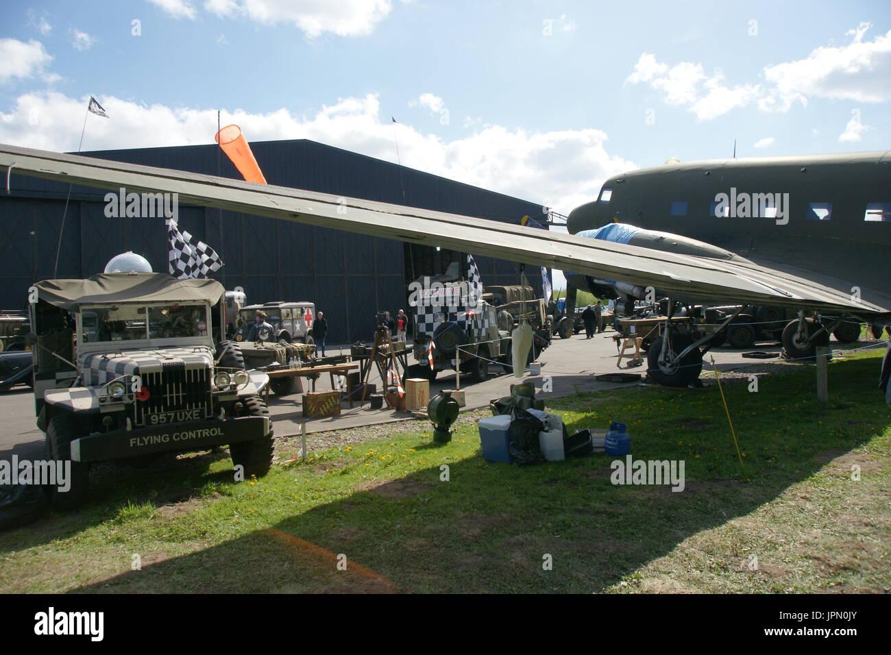 World war two RAF Dakota C-47 transport aircraft - Stock Image