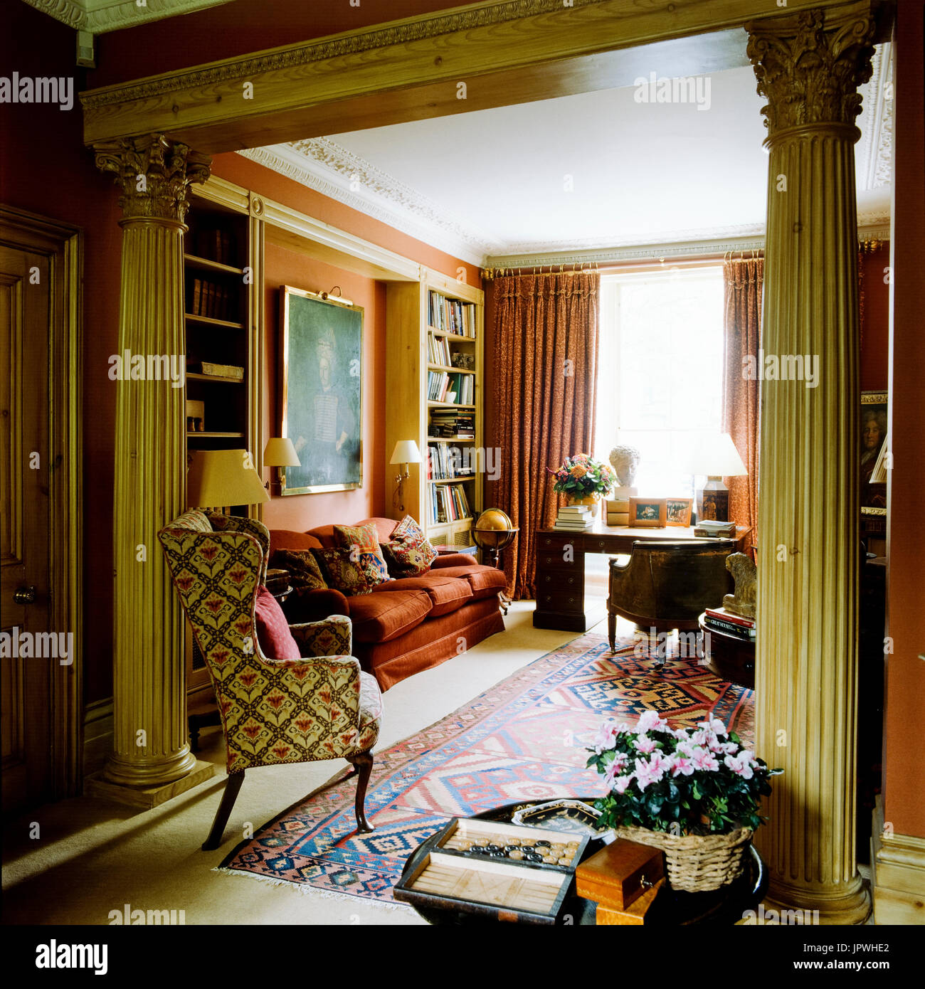 Victorian living room stock photos victorian living room for Victorian style room