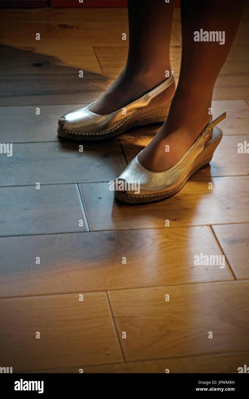 womens feet - Stock Image