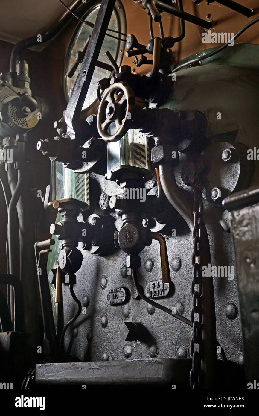 steam train controls - Stock Image