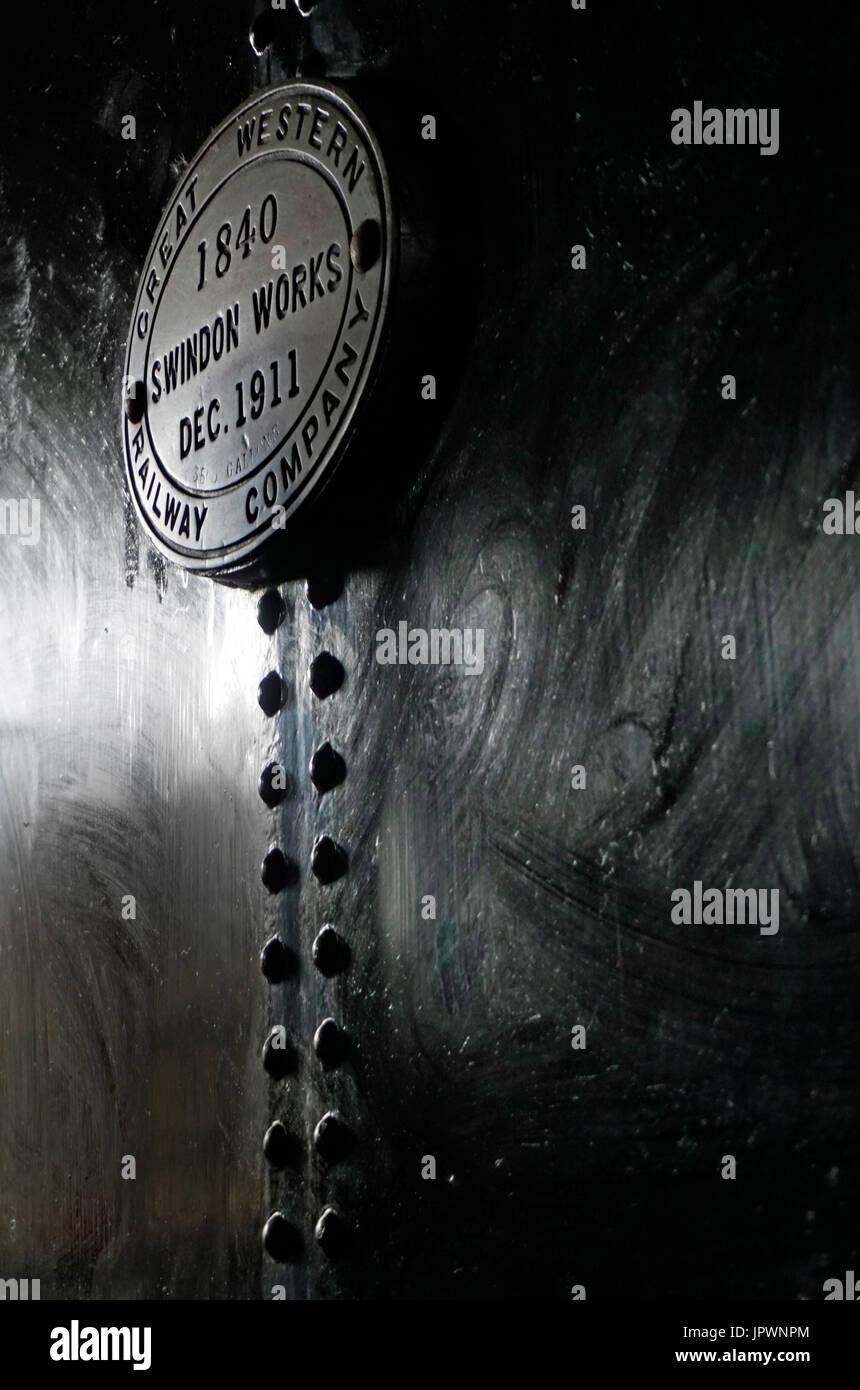 steam train plaque - Stock Image