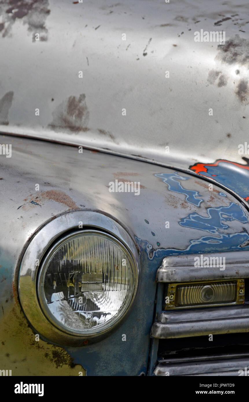 distressed vintage american pickup truck - Stock Image