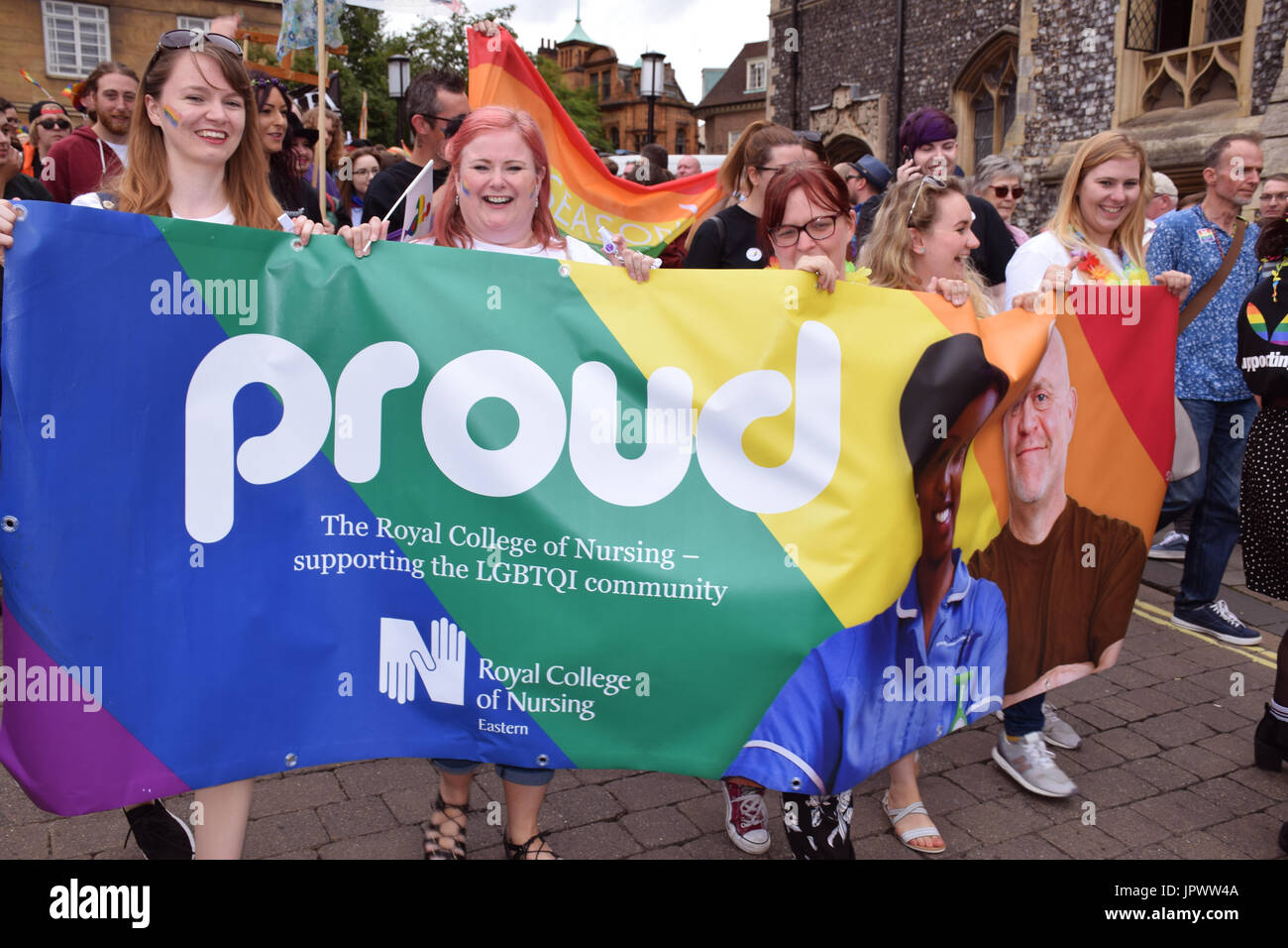 Pride 2017, Norwich UK, 29 July 2017 - Stock Image