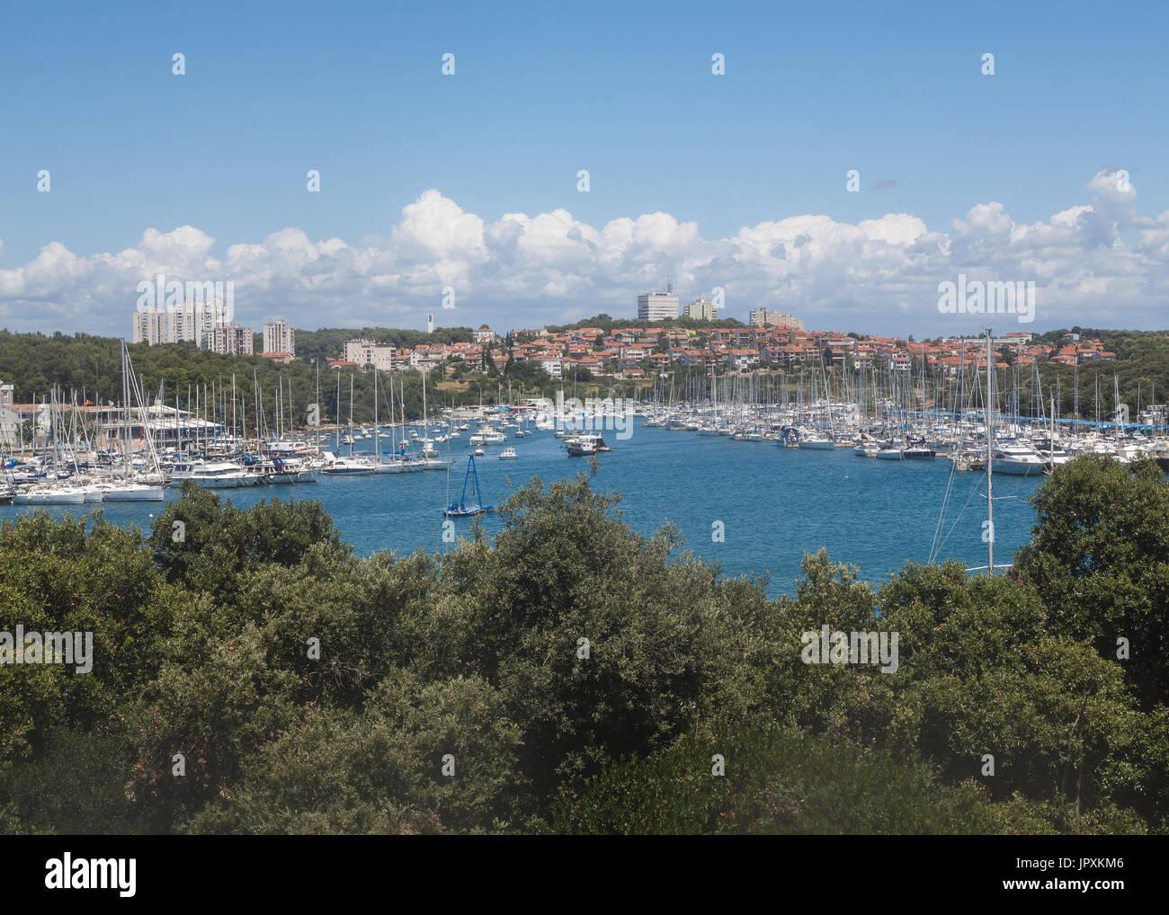 Marina in Verudela, Pula, Croazia - Stock Image