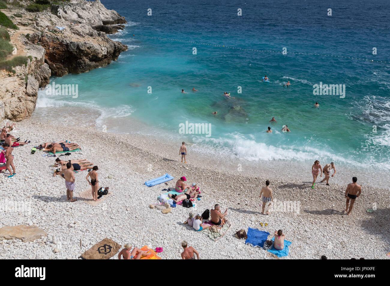 Beach in Pula, Croatia - Stock Image
