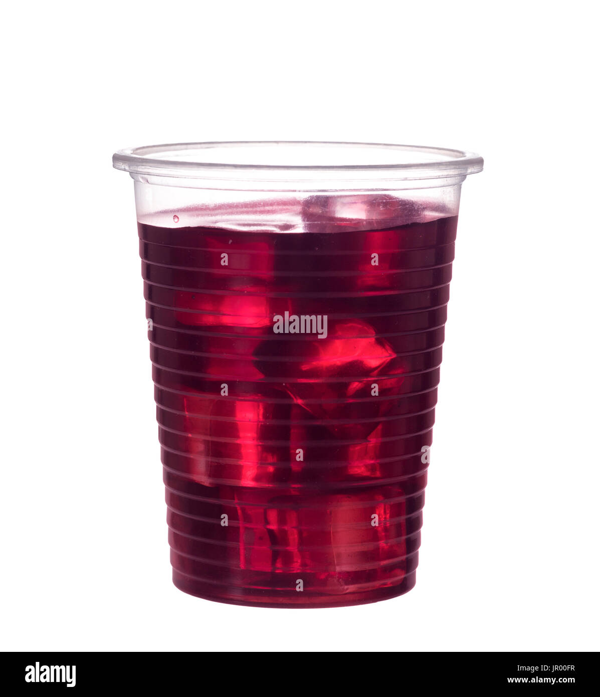 Home made fruit cordial with blackcurrant juice. - Stock Image