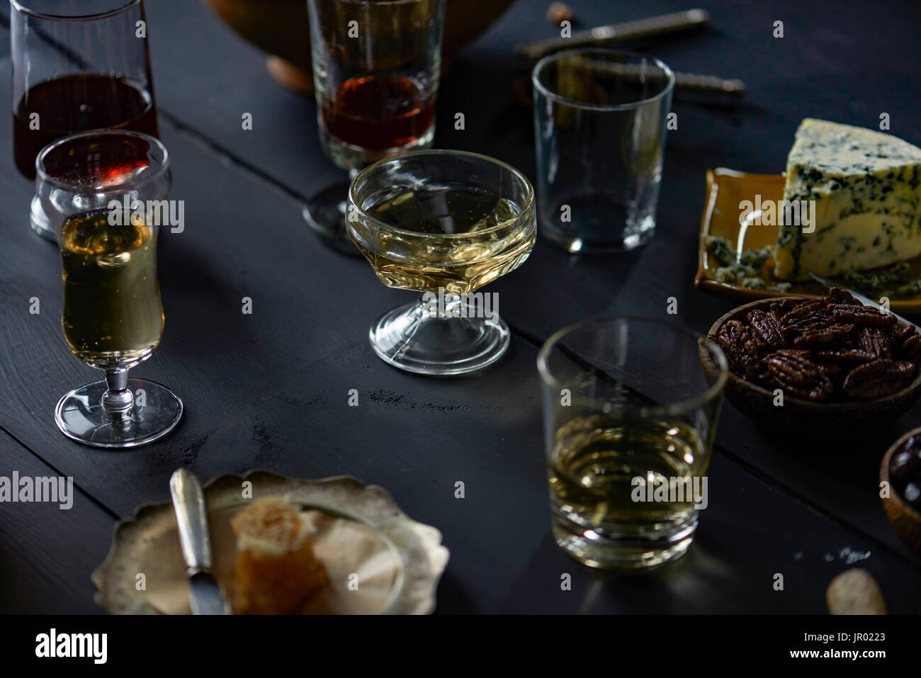 cheese party setup, dinner, party - Stock Image