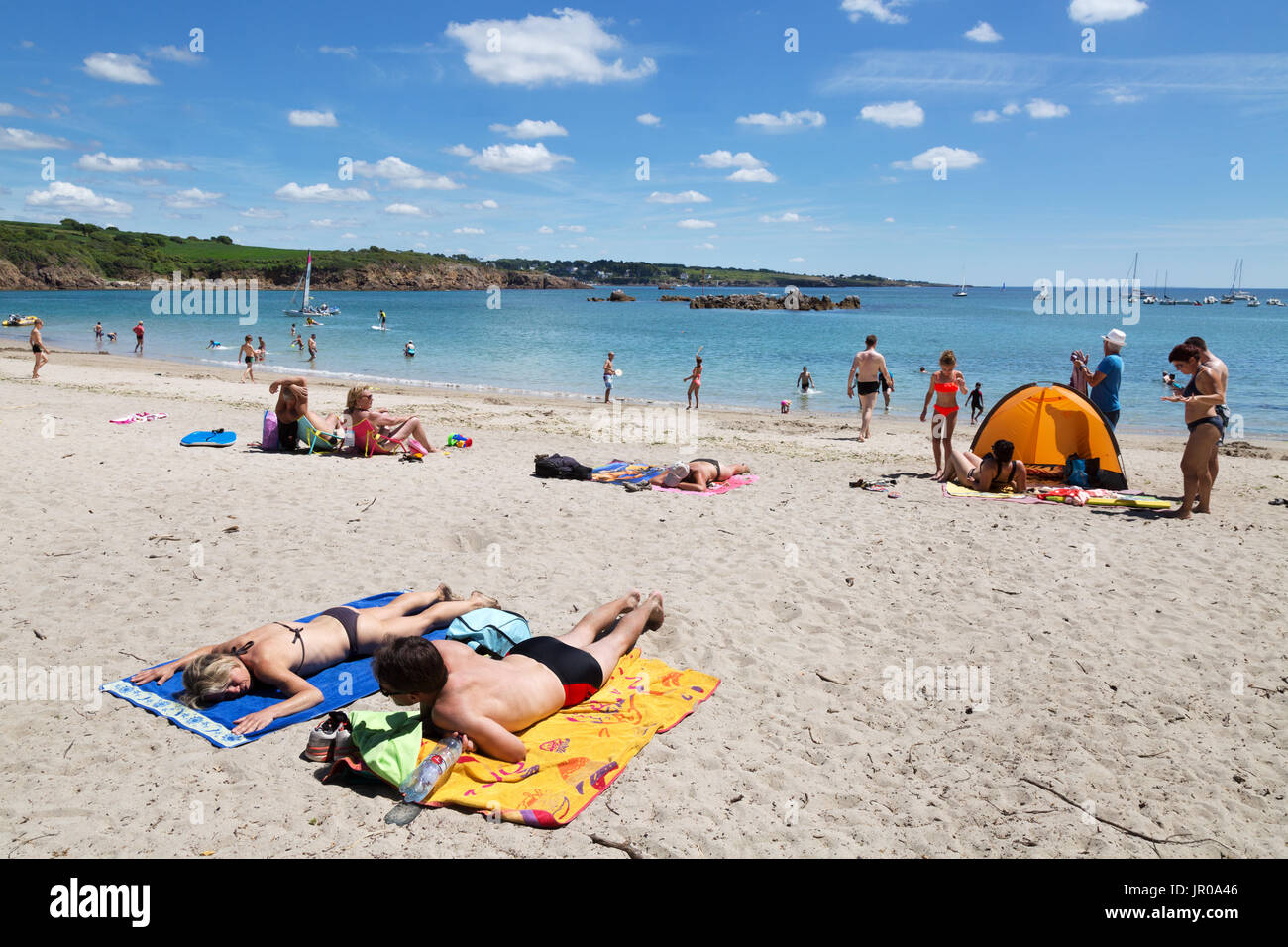 Sunbathers France Beach Stock Photos Amp Sunbathers France Beach Stock Images Alamy