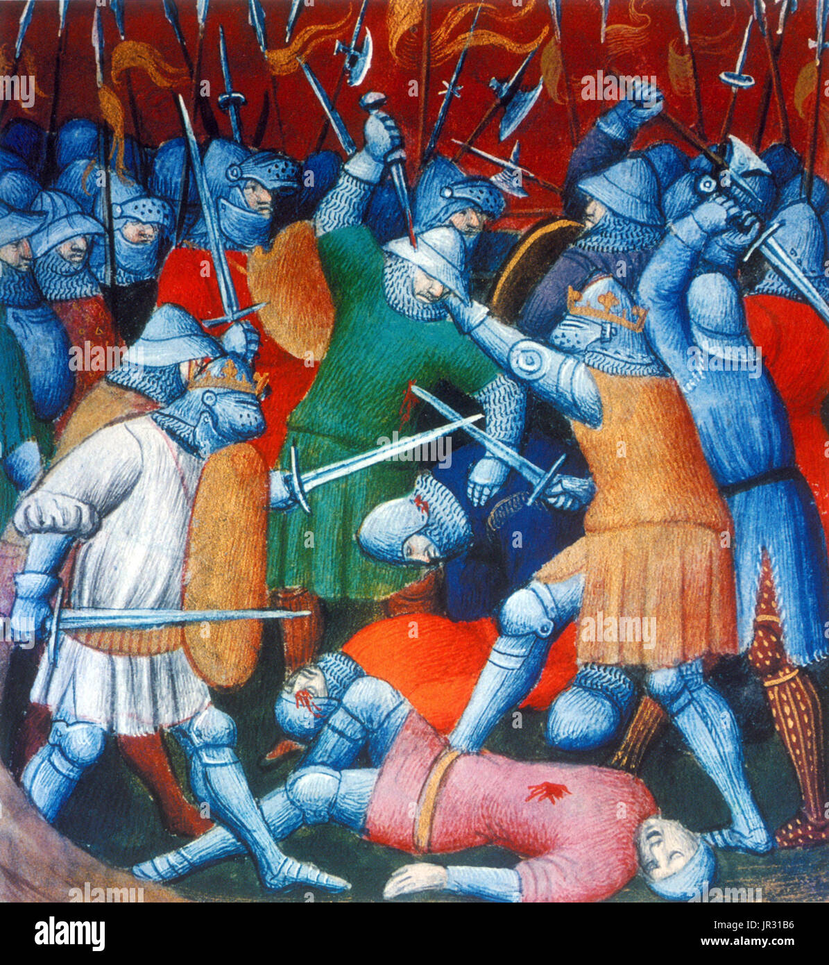 The Fifth Crusade (1213-21) was an attempt by Western Europeans to reacquire Jerusalem and the rest of the Holy - Stock Image