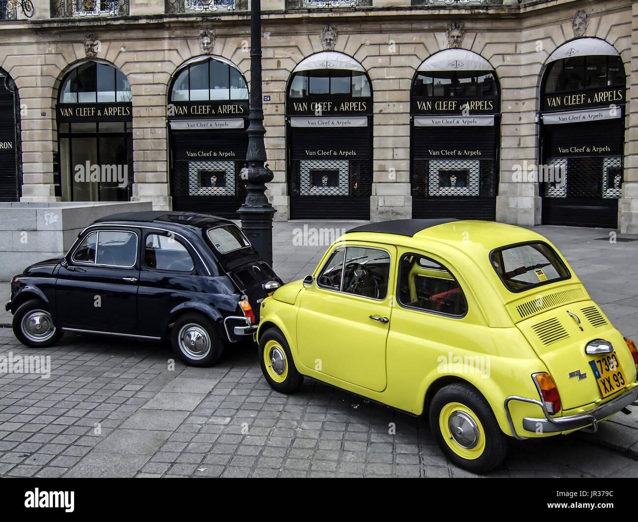 italian car in paris stock photos italian car in paris stock images alamy. Black Bedroom Furniture Sets. Home Design Ideas