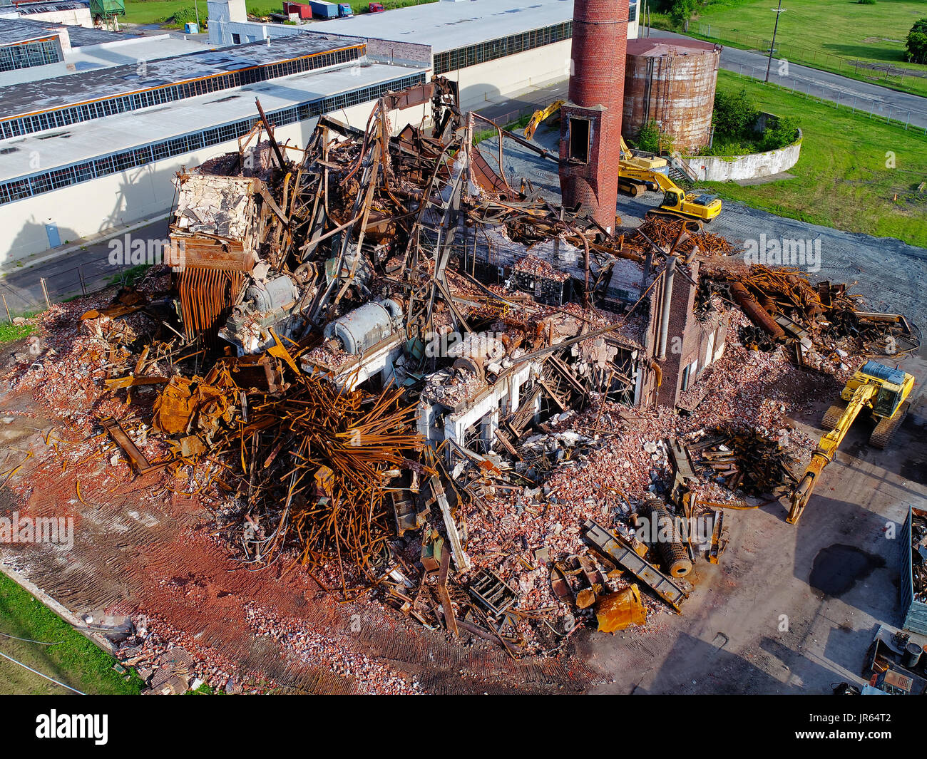 Factory Demolition - Stock Image