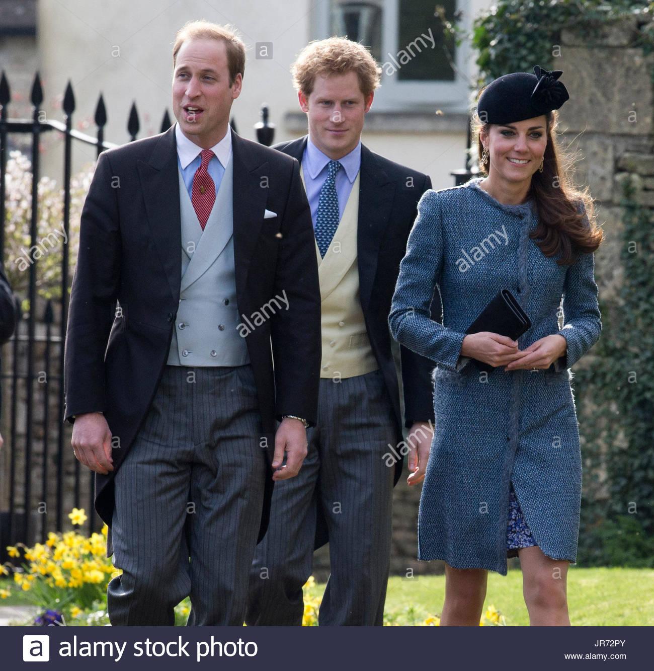 Duke Duchess Cambridge Attend Wedding Stock Photos & Duke
