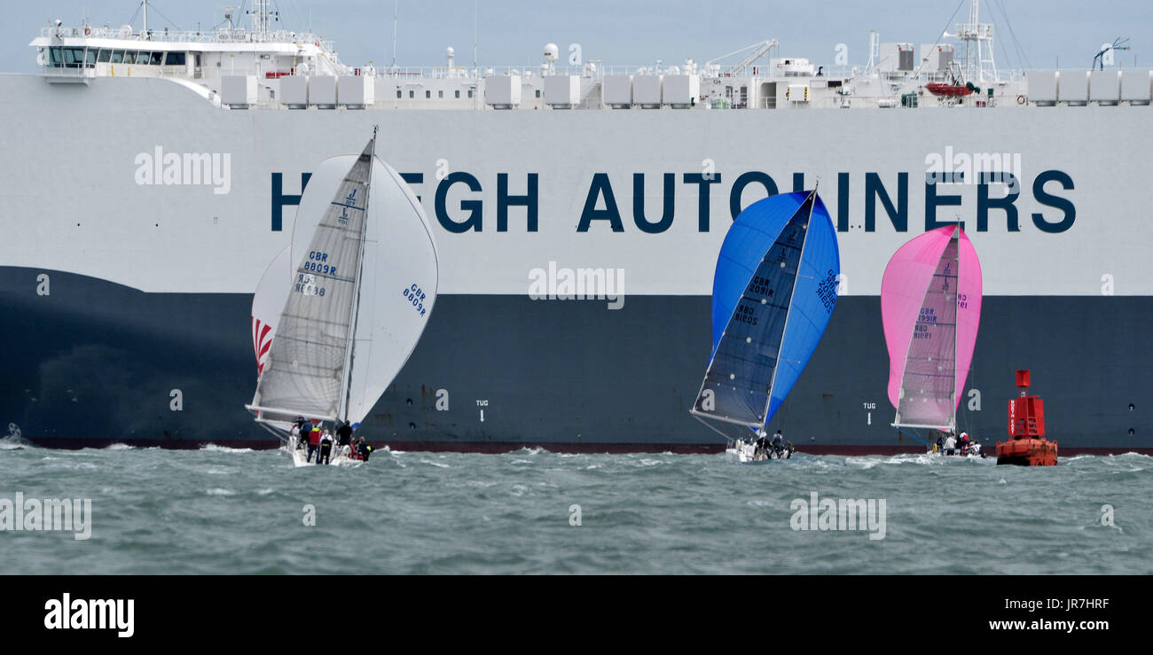Cowes, UK. 4th Aug, 2017. Lendy Cowes Week Sailing All classes Credit: Leo Mason sports photos/Alamy Live News Stock Photo