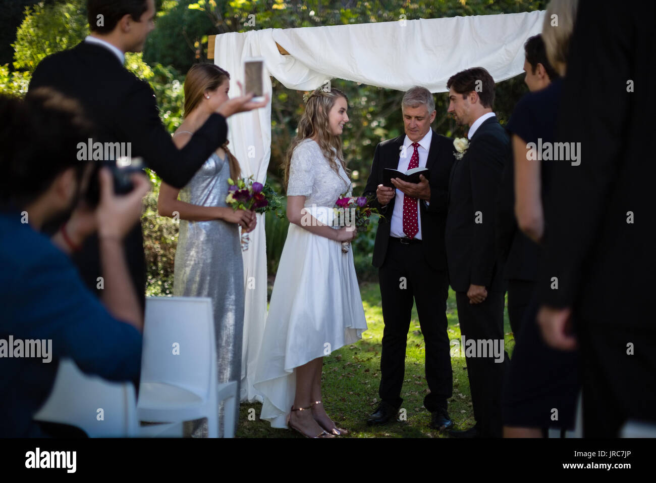 Pay preacher for wedding