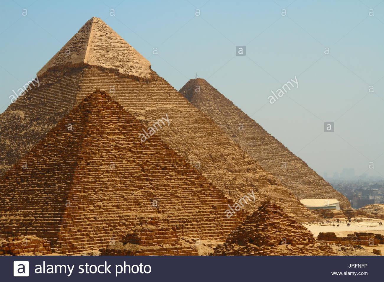 Egypt - Cairo - Pyramids site - Stock Image