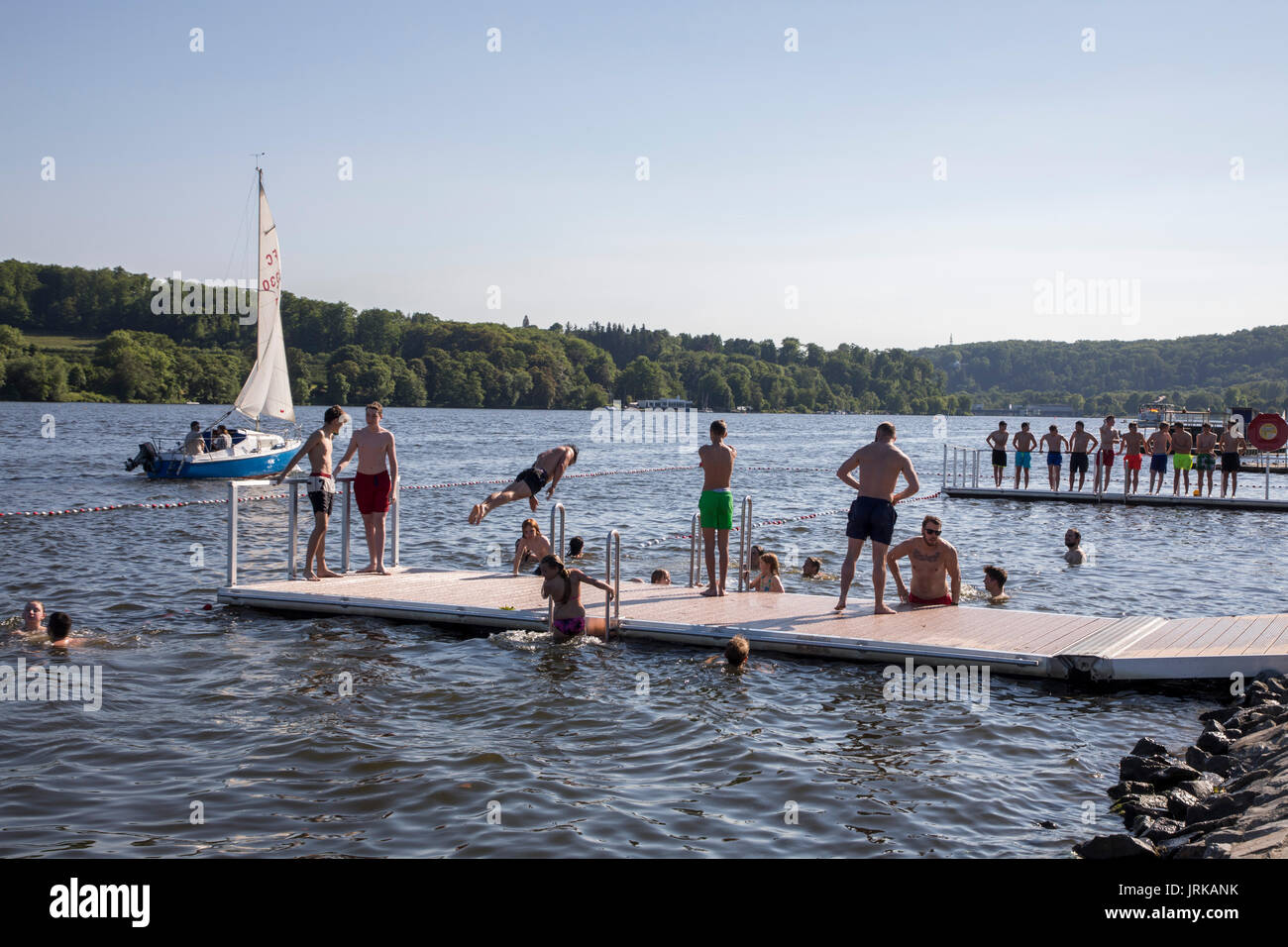 Floating Swimming Pool In River Stock Photos Floating Swimming Pool In River Stock Images Alamy