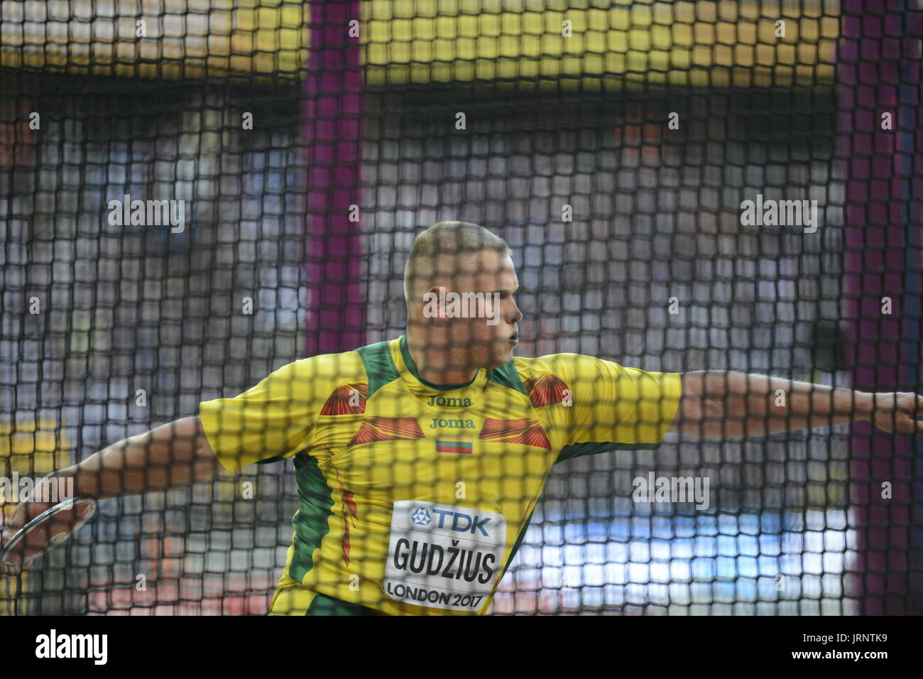 London, UK. 05th Aug, 2017. Andrius Gadzius,  Discus Throw, Lithuania, Athletics; IAAF World Championships Credit: - Stock Image
