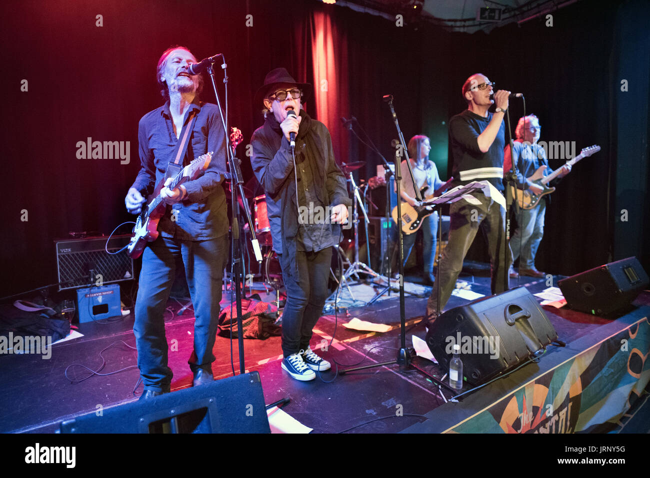 Preston, UK. 05th Aug, 2017. The Mekons play a gig at The Continental, Preston, UK. The original 1970s line-up of - Stock Image