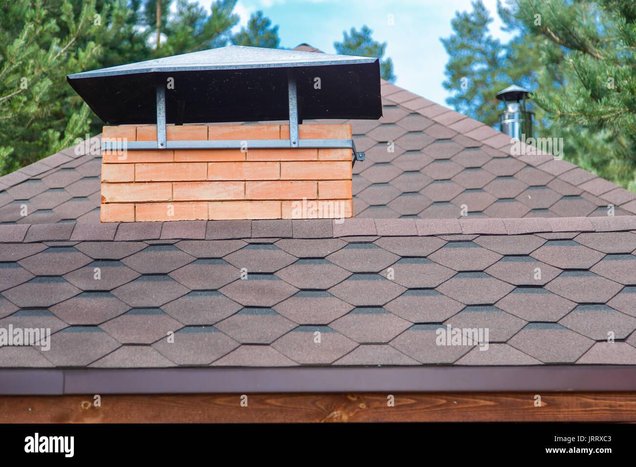 Slate roof modern house stock photos slate roof modern for Modern roof shingles