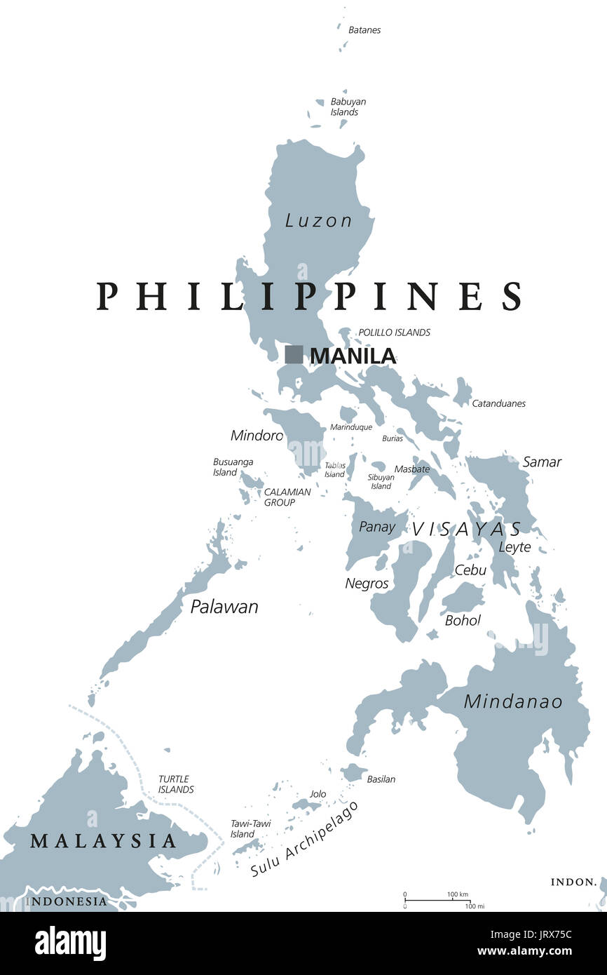 Political Map Of Panay Island