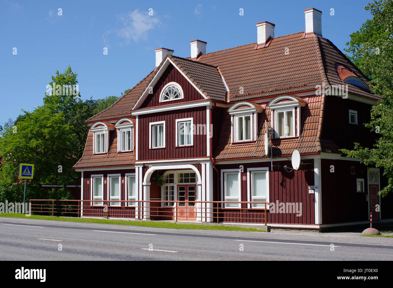 Old Sindi railway station. Estonia, Pärnu county 6th August 2017 Stock Photo