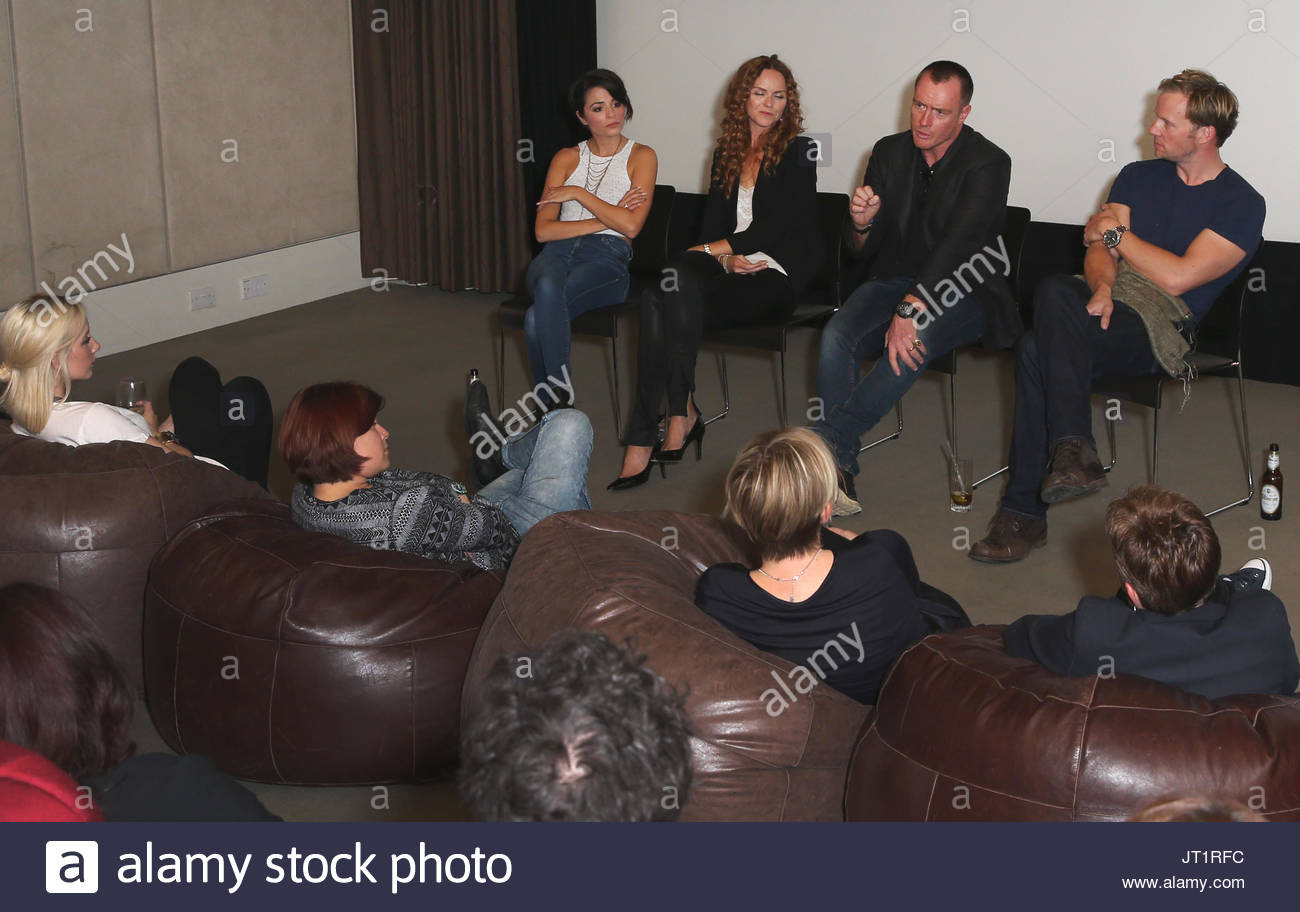 Toby Stephens short film IN VITRO was screened last night at the The Hospital Club.  Attendees include Toby Stephens, - Stock Image