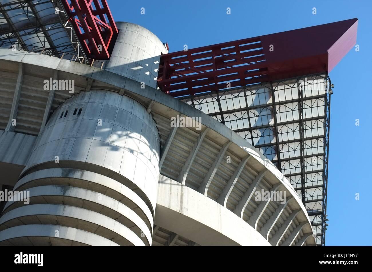 Exterior of the San Siro stadium, Milan, Lombardy, Italy, July 2017 - Stock Image
