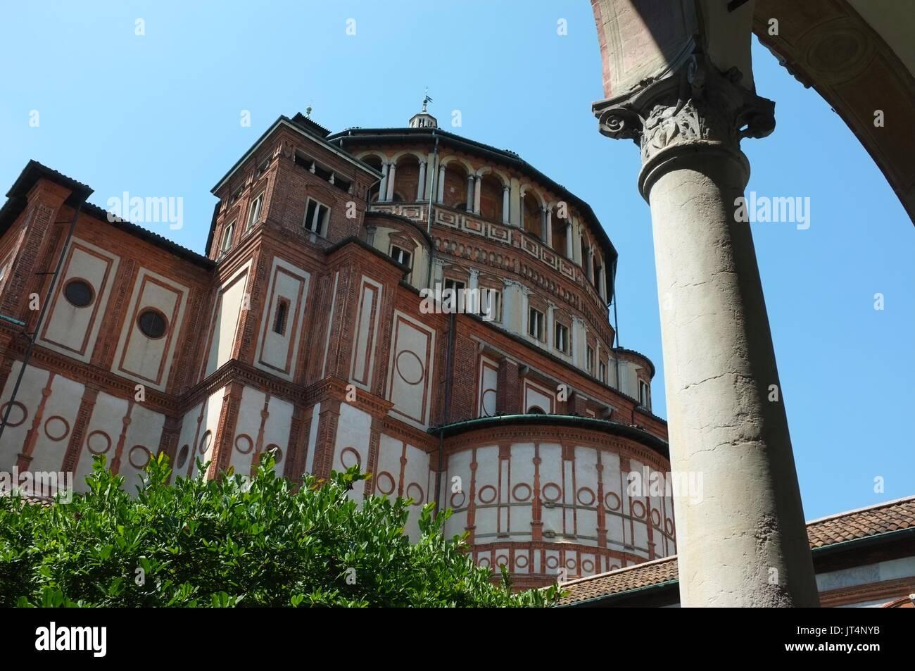 Santa Maria delle Grazie, Milan, Lombardy, Italy, July 2017 - Stock Image