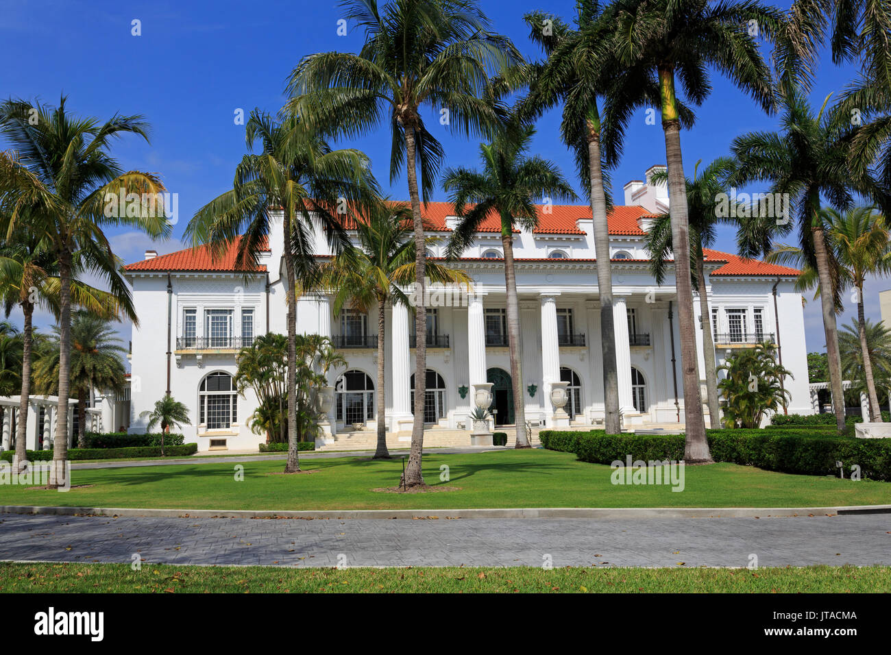 Flagler Museum, Palm Beach, Florida, United States of America, North America - Stock Image