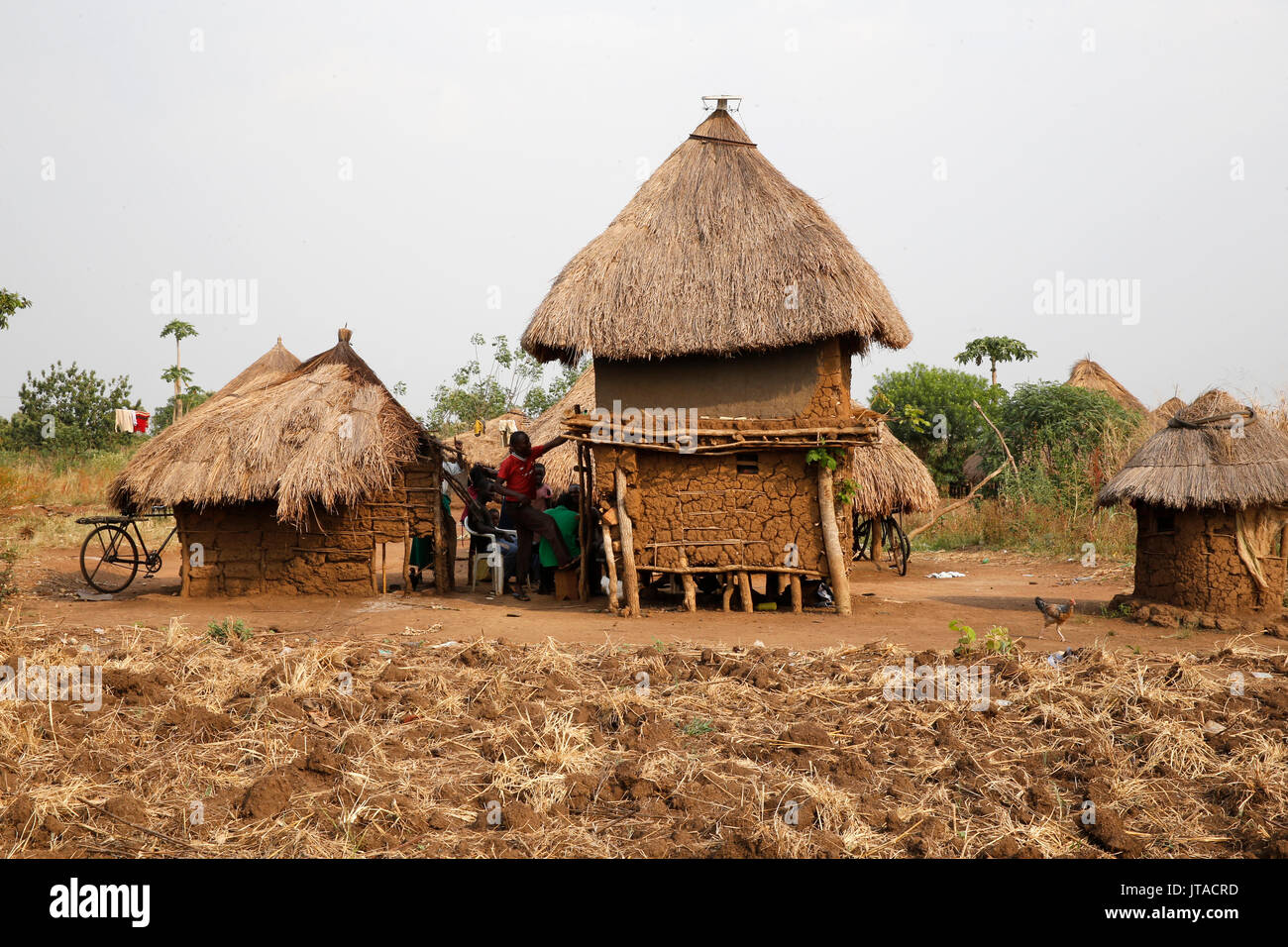 Ugandan village, Uganda, Africa - Stock Image