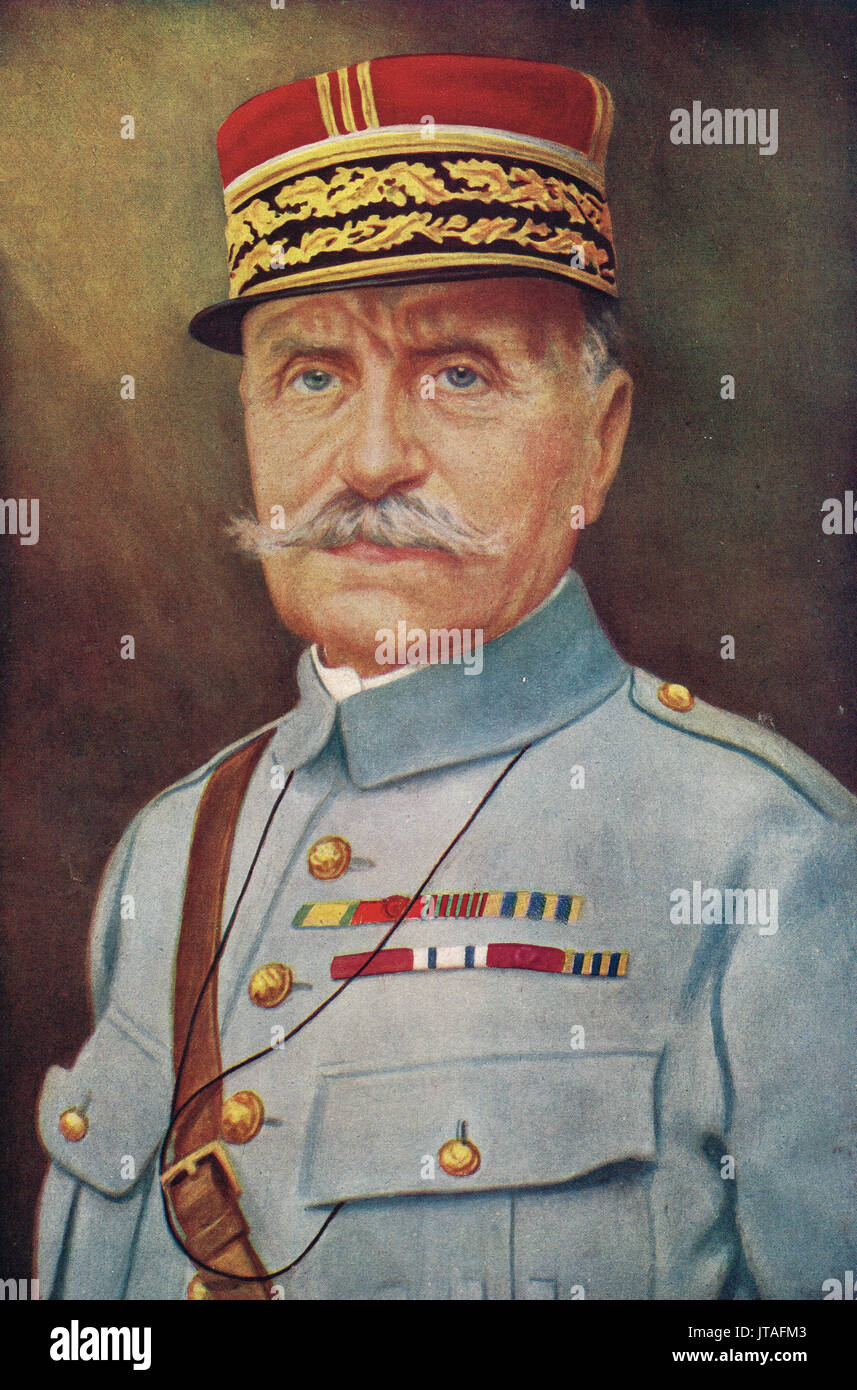 Marshal Foch, Allied Commander-in-Chief - Stock Image