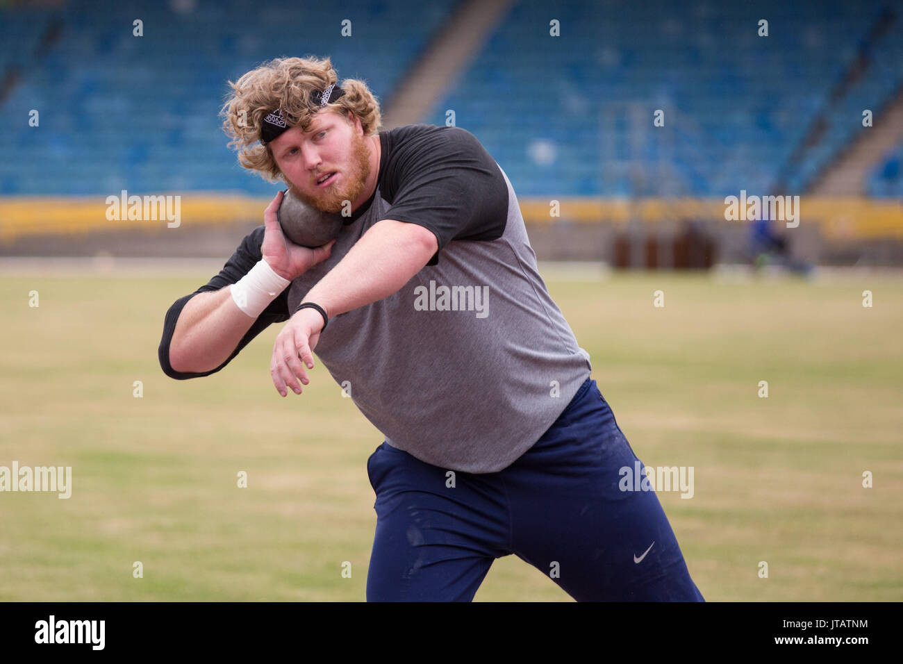 Ryan Crouser (born December 18, 1992) is an American shot putter and discus thrower. Crouser won the gold medal - Stock Image