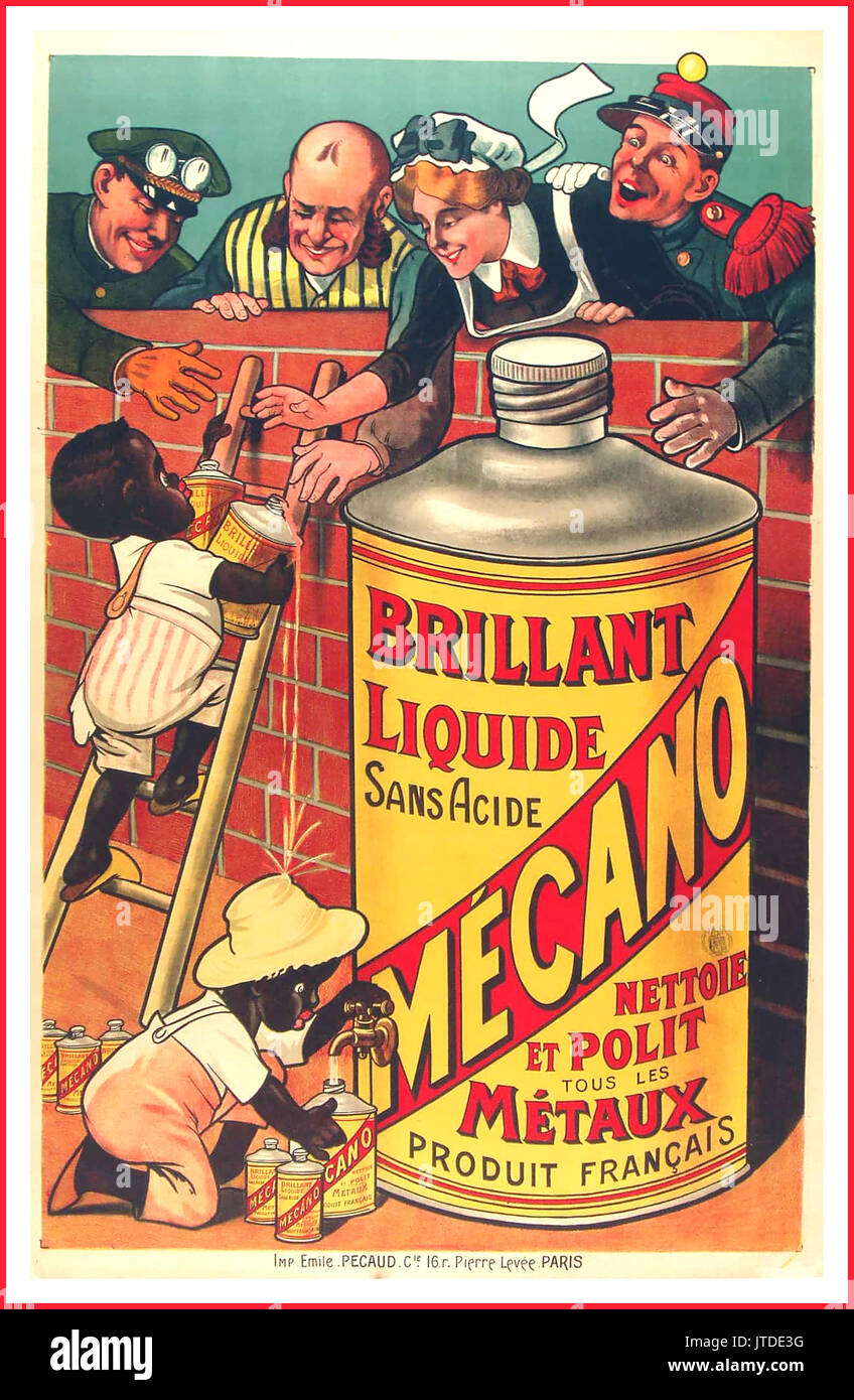 'BRILLIANT MECANO LIQUIDE ' Vintage French advertising poster Original Stone Lithograph 1895 The Belle Epoque - Stock Image