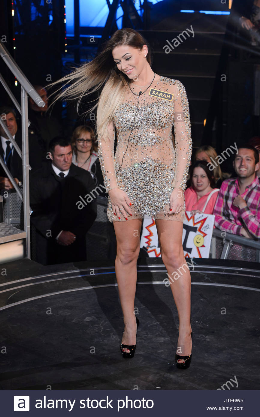 Sarah Greenwood. Contestants arrive for the 2015 series of Big Brother Timebomb - Stock Image