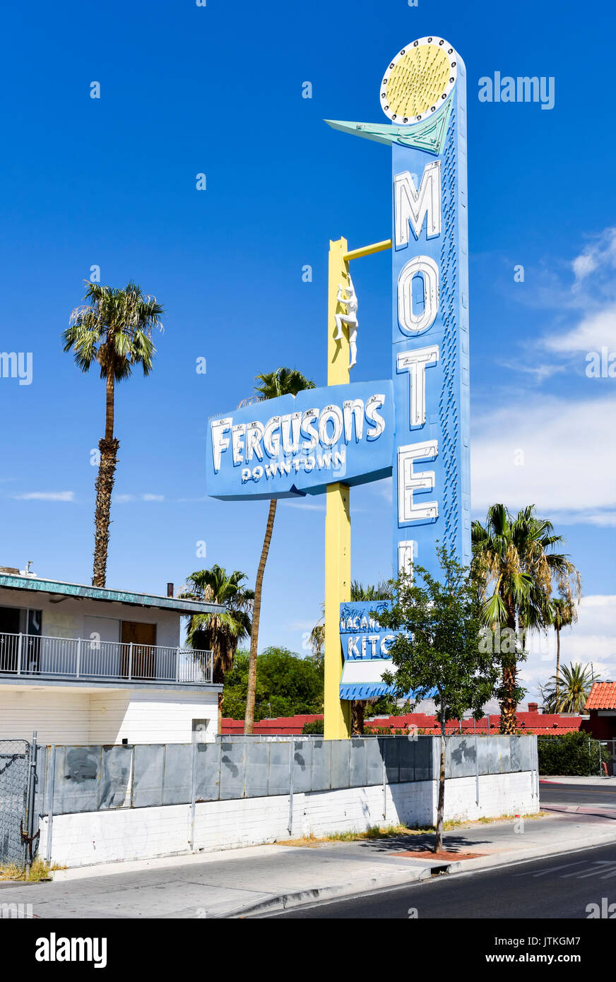 Fergusons Downtown Motel, Las Vegas, Nevada - Stock Image