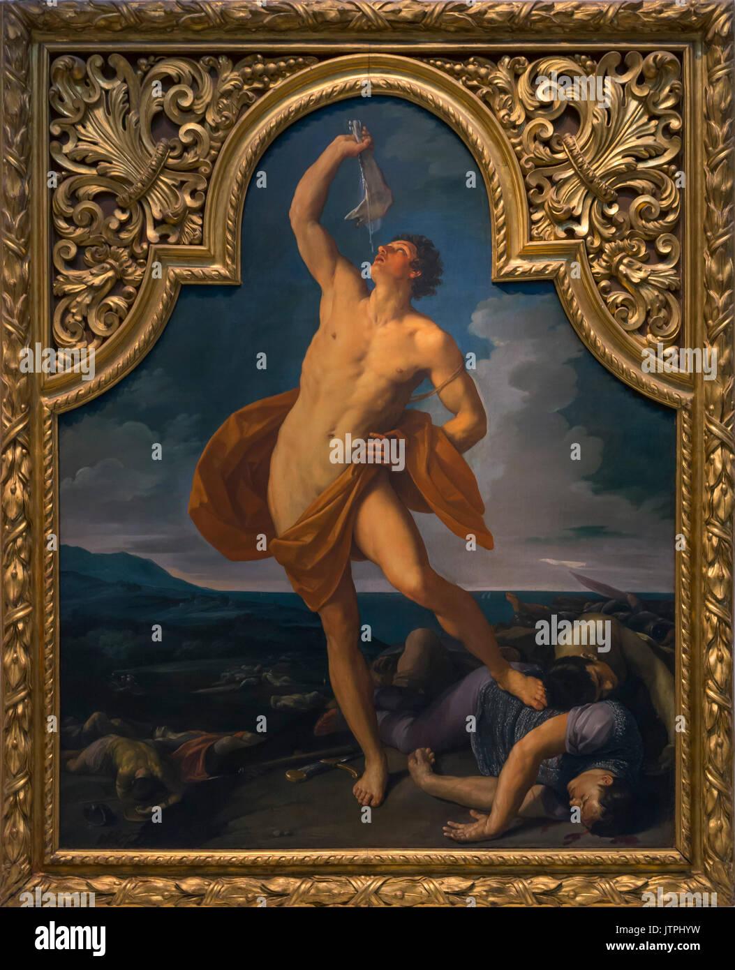 The Triumph of Samson,  Guido Reni, circa 1611-1612, National Art Gallery of Bologna, Pinacoteca Nazionale di Bologna, - Stock Image