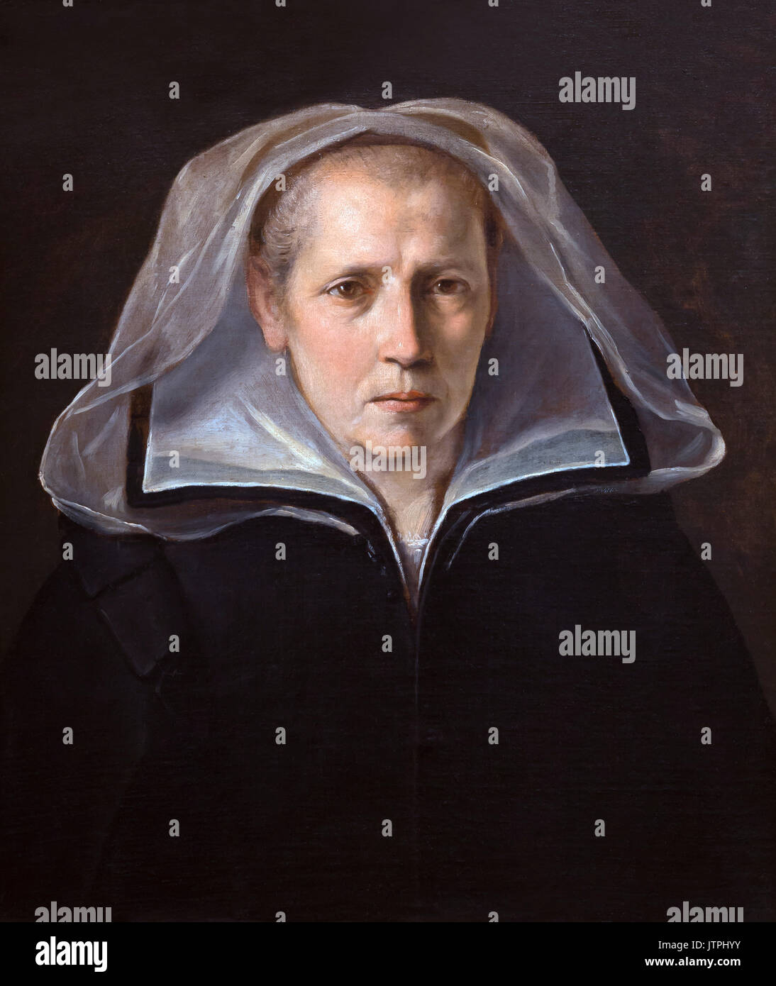 Portrait of the Artist's Mother, by Guido Reni,  1612, National Art Gallery of Bologna, Pinacoteca Nazionale - Stock Image