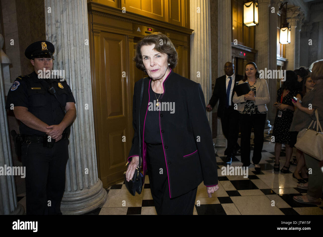 July 26, 2017 - Washington, District Of Columbia, USA - Sen. DIANNE FEINSTEIN (D-CA) walks to the Senate floor prior - Stock Image