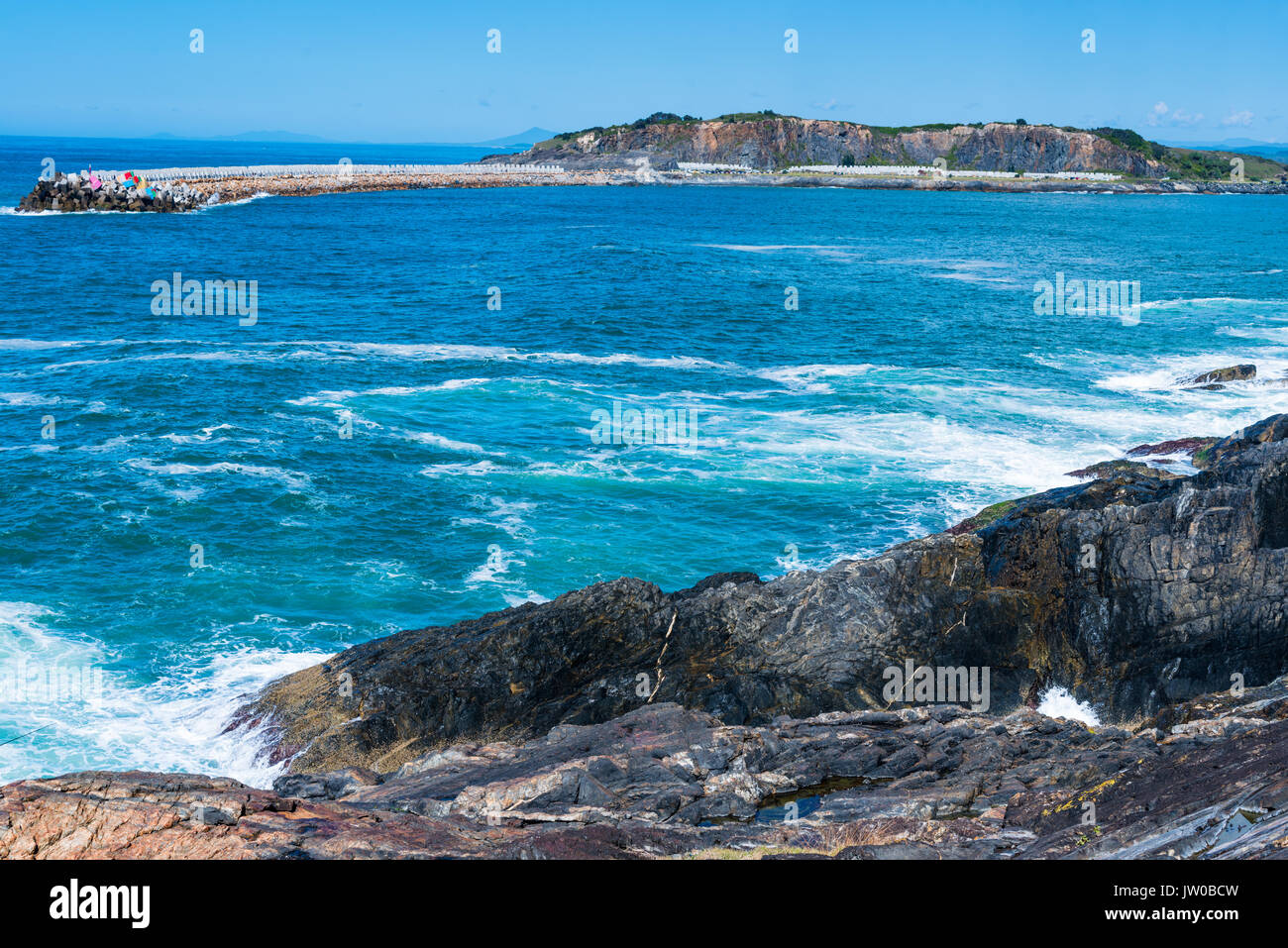 Views from Mutton bird island, Coffs Harbour, NSW, Australia. - Stock Image